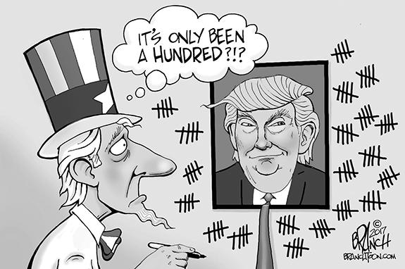 Editorial Cartoon: 100 Days
