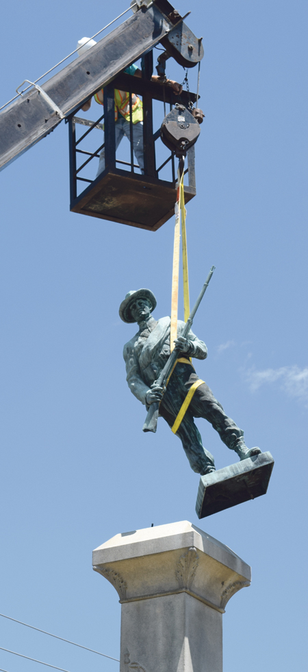 Monument moved; safety concerns cited