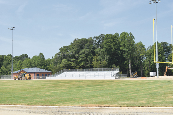 <i>New Louisburg High athletic facility nears completion</i>