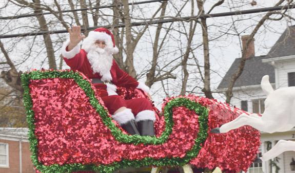 Santa rides