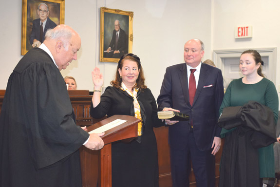NEW JUDGE TAKES OATH