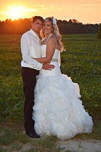 <i>Couple united in church rites</i>