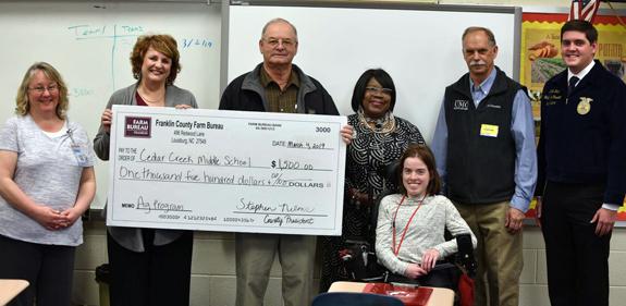 <i>Cedar Creek ag teacher earns rewards for her class</i>