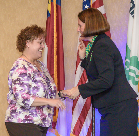 <i>Girl Scouts honor local woman for her outstanding service</i>