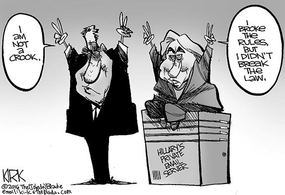 Editorial Cartoon: Hillary and Tricky