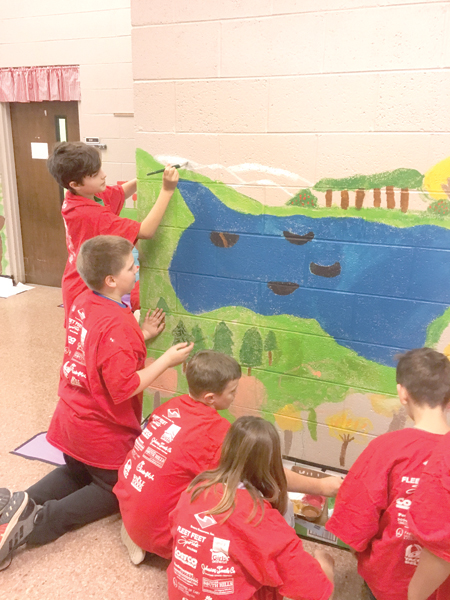 Bunn Elementary students beautify their school