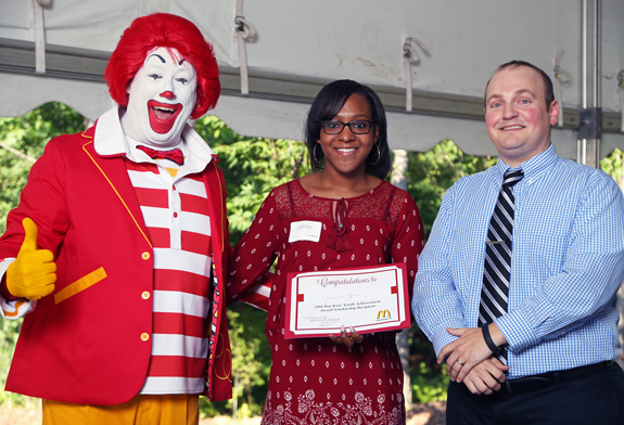 <i>Student receives McDonalds' award</i>