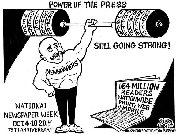 Editorial Cartoon: Power Of The Press