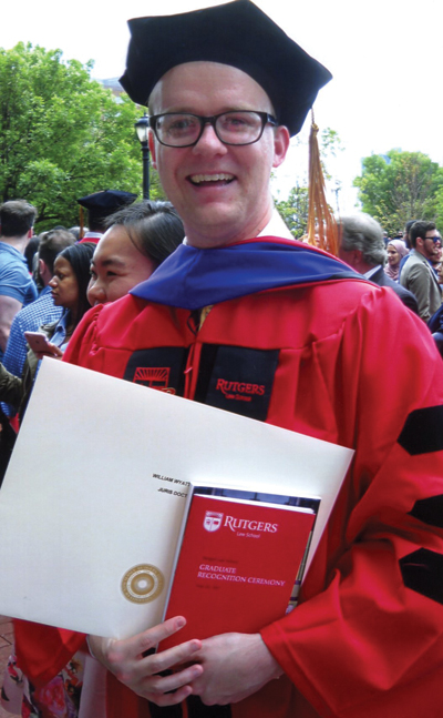 <i>Student earns Rutgers law degree</i>