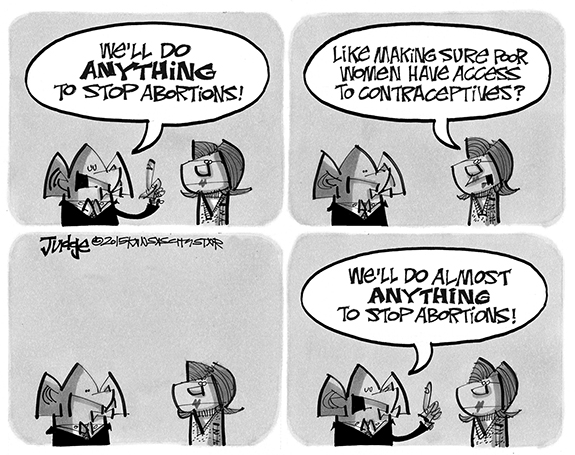 Editorial Cartoon: Abortion