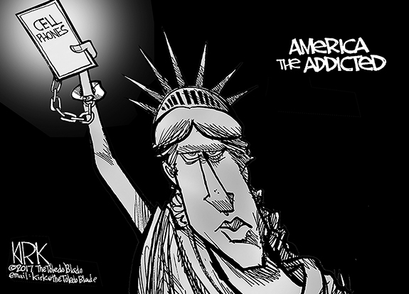 Editorial Cartoon: Addiction