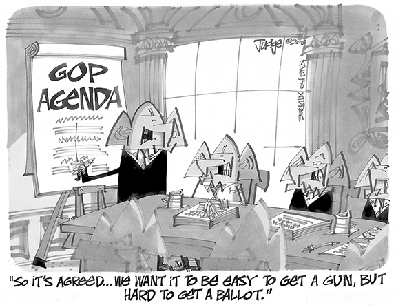 Editorial Cartoon: Agenda