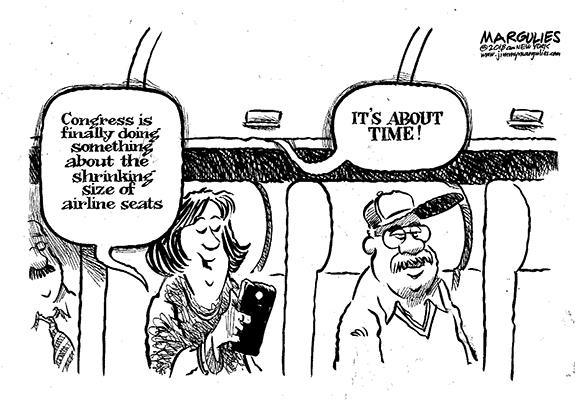 Editorial Cartoon: Airline Seats