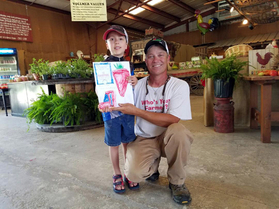 <i>Youngster picks up a passion to help along with strawberries</i>