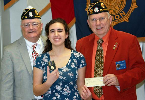 <i>Franklinton American Legion post selects oratorical winner</i>