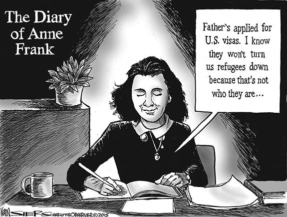 Editorial Cartoon: Anne Frank