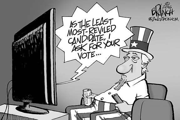 Editorial Cartoon: Ask For Vote