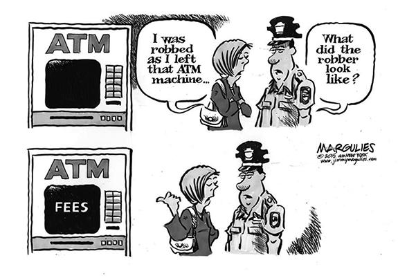 Editorial Cartoon: Bank Fees