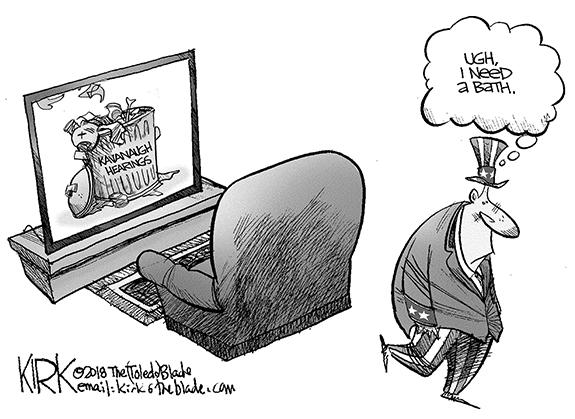Editorial Cartoon: Bath
