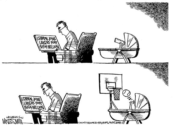 Editorial Cartoon: Basketball