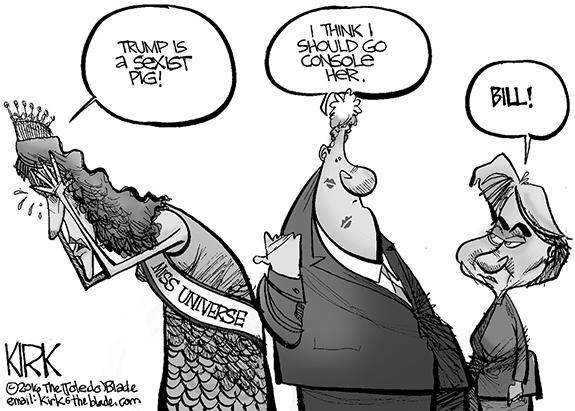 Editorial Cartoon: Bill Clinton