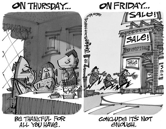 Editorial Cartoon: Black Friday