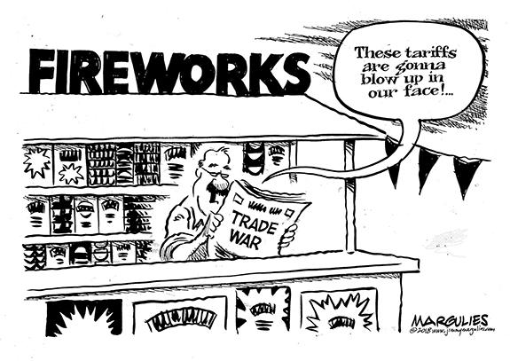 Editorial Cartoon: Blow Up