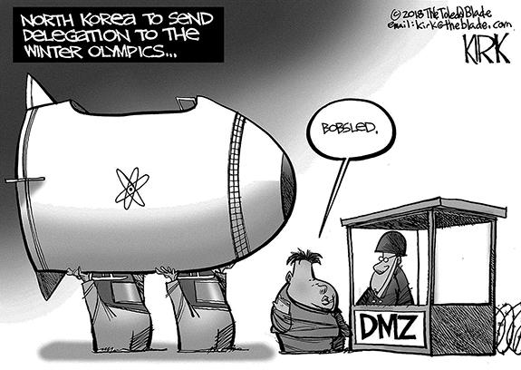 Editorial Cartoon: Bobsled