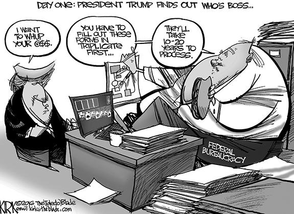 Editorial Cartoon: Boss
