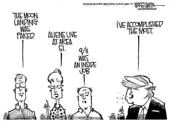Editorial Cartoon: Brag