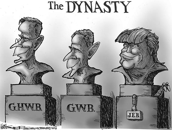 Editorial Cartoon: Bush Dynasty