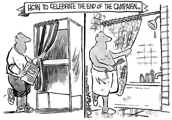 Editorial Cartoon: Campaign End