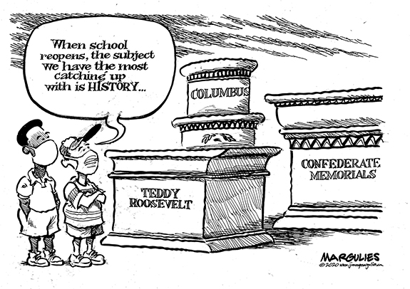 Editorial Cartoon: Catching Up