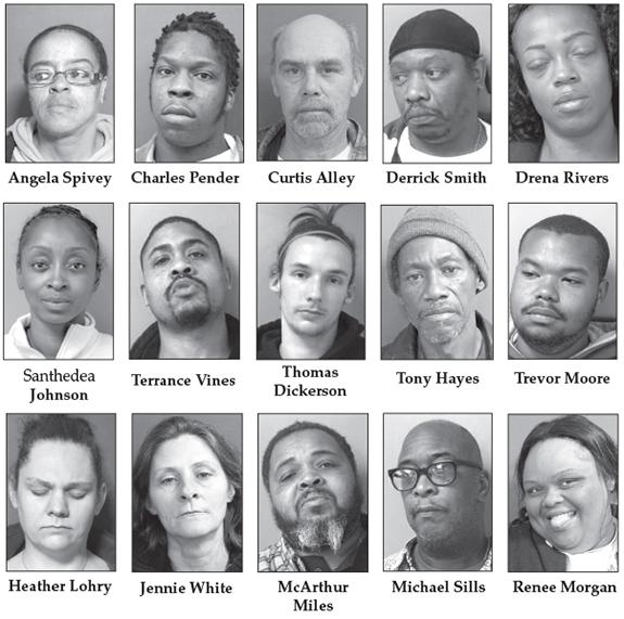 Drug raids nab 15; 67 felony counts filed