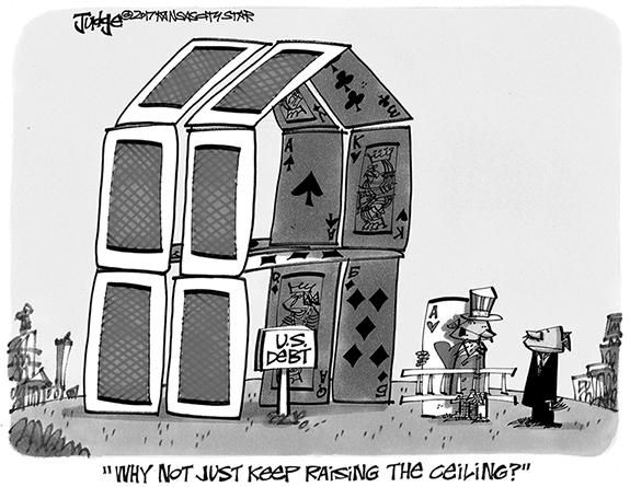 Editorial Cartoon: Ceiling