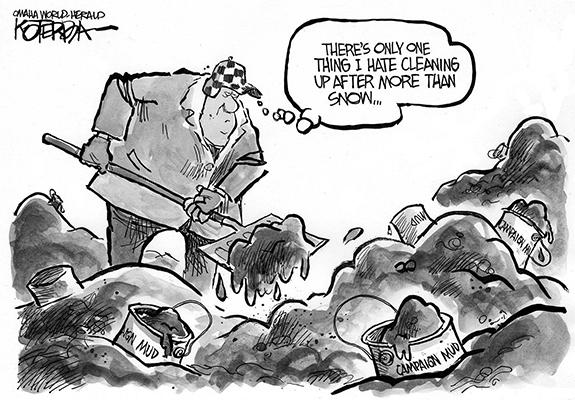 Editorial Cartoon: Clean Up