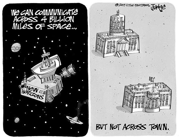 Editorial Cartoon: Communicate