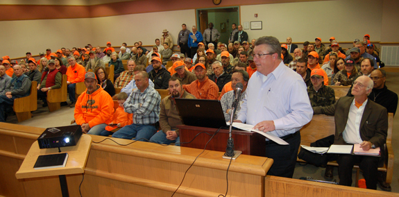 <i>Commissioners see orange as hunting rights versus property rights clash, again</i>