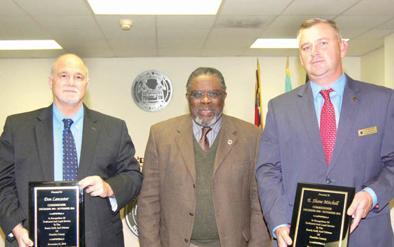 <i>Outgoing commissioners honored</i>