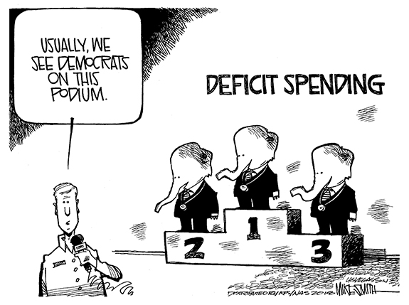 editorial cartoon deficit spending the franklin times