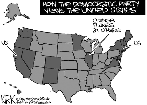 Editorial Cartoon: Dems View