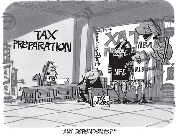 Editorial Cartoon: Dependents