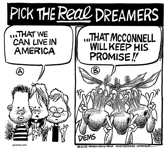 Editorial Cartoon: Dreamers