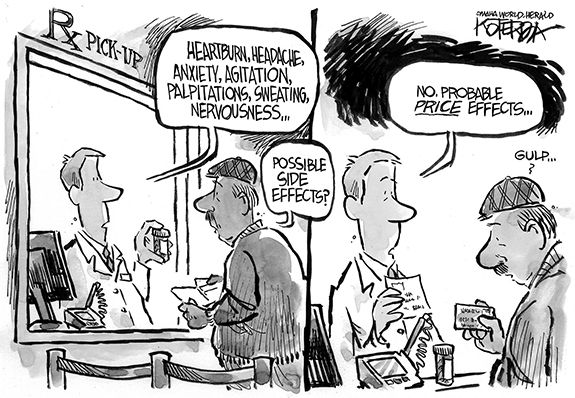 Editorial Cartoon: Drug Cost