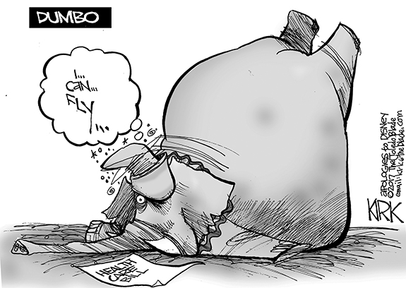 Editorial Cartoon: Dumbo