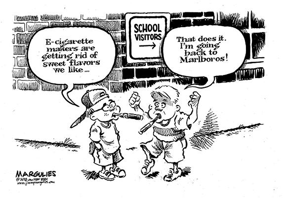 Editorial Cartoon: E-Cigs