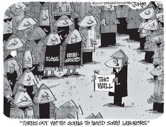 Editorial Cartoon: The Wall