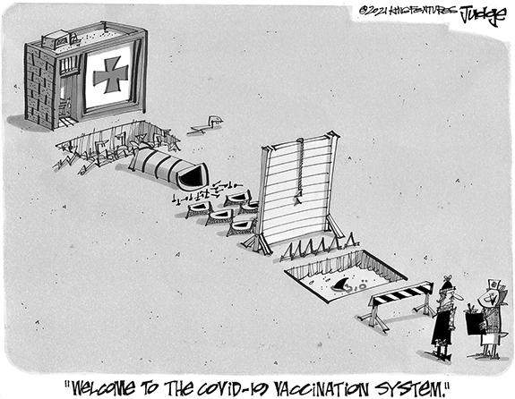 Editorial Cartoon: Welcome