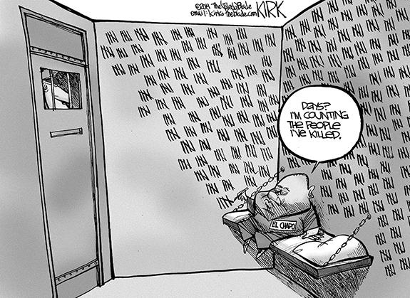 Editorial Cartoon: El Chapo