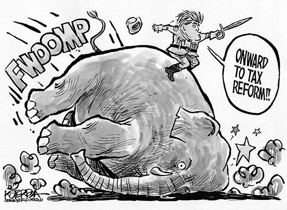Editorial Cartoon: Elephant